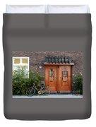 Bicycle And Wooden Door Duvet Cover