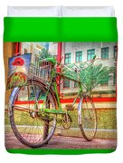 Bicycle Art Duvet Cover