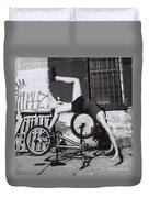 Bicycle Gymnastics 4 Duvet Cover