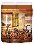 Bicycle Line-up Duvet Cover