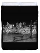 Bicycle On The Plein At Night - The Hague  Duvet Cover