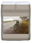 Bicycle On The Road In Botswana Duvet Cover
