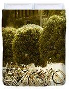 Bicycle Park 2 Duvet Cover