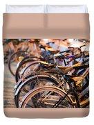 Bicycle Park Duvet Cover