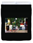 Bicycle Parking Sketch Duvet Cover