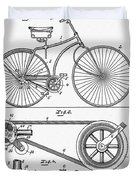 Bicycle Patent 1890 Duvet Cover
