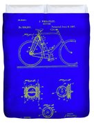 Bicycle Patent Drawing 4b Duvet Cover