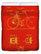 Bicycle Patent Drawing 4c Duvet Cover