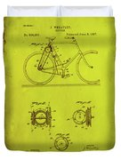 Bicycle Patent Drawing 4d Duvet Cover