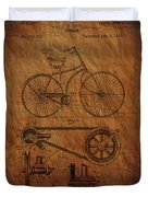 Bicycle Patent From 1890 Duvet Cover