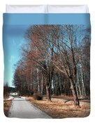 Bicycle Path Duvet Cover