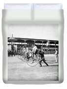 Bicycle Race, 1890 Duvet Cover