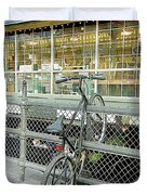 Bicycle Rack Duvet Cover