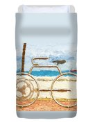 Seaside Bicycle Stand Duvet Cover