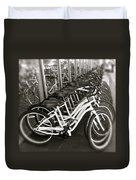 Bicycles In Belmont Shore Duvet Cover