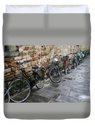 Bicycles In Rome Duvet Cover