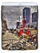 Bicycles In Rotterdam, Netherlands Duvet Cover