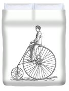 Bicycling, 1880 Duvet Cover