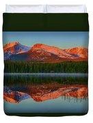 Bierstadt Alpenglow Duvet Cover