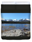 Bierstadt Lake In Rocky Mountain National Park Duvet Cover