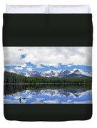 Bierstadt Lake Panorama Duvet Cover