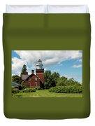 Big Bay Point Lighthouse Duvet Cover