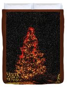 Big Bear Christmas Tree Duvet Cover
