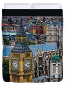 Big Ben And Westminster Abbey Duvet Cover