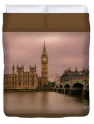 Big Ben And Westminster Bridge, London Duvet Cover