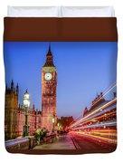 Big Ben By Night Duvet Cover