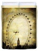 Big Ben In The London Eye Duvet Cover