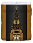 Big Ben Striking Midnight Duvet Cover