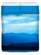 Big Bend Blue Haze Duvet Cover
