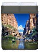 Big Bend Texas National Park Mariscal Canyon Duvet Cover