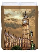 Big Ben's House Duvet Cover by Meirion Matthias
