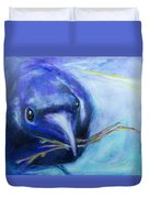 Big Blue Bird Duvet Cover