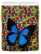 Big Blue Butterfly Duvet Cover