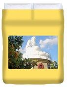 Big Buddha Statue At The Long Son Pagoda In Nha Trang Vietnam Duvet Cover