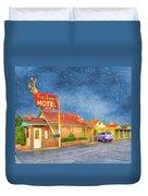 Big Bunny Motel Duvet Cover by Juli Scalzi