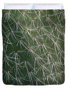 Big Cactus Pins. Close-up Duvet Cover