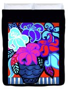 Big Colorful Lillies 2 Duvet Cover