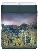 Big Cottonwood Canyon Sunrise Duvet Cover