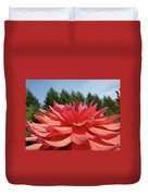 Big Dahlia Flower Blooming Summer Floral Art Prints Baslee Troutman Duvet Cover