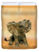 Beautiful African Baby Elephant Duvet Cover