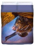 Big Eared Bat At Sunrise Duvet Cover