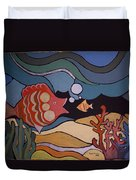 Big Fish And Little Fish Duvet Cover