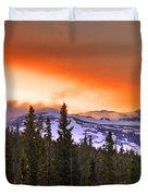 Big Horn Sunset Duvet Cover