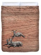 Big Horned Sheep Of Zion Duvet Cover