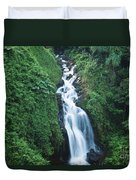 Big Island Watefall Duvet Cover