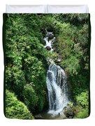 Big Island Waterfall Duvet Cover